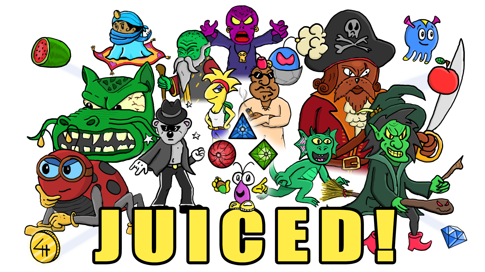 juiced platform game logo